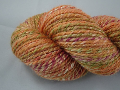 Gentle Orange Handspun Yarn-