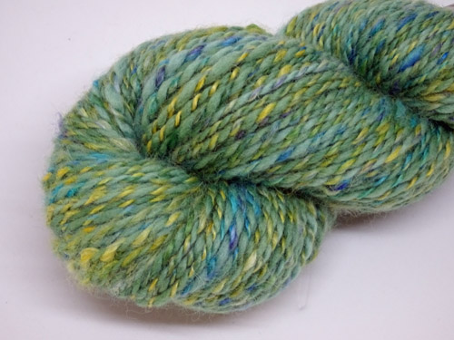 Green Twirl Handspun Merino/Alpaca Yarn-