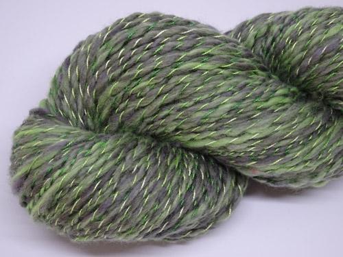 Green Twist Handspun Yarn-