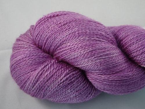 Lilac Lace Merino/Silk Laceweight Yarn-