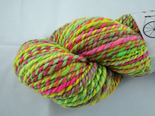 Lime Twirl Handspun Yarn-