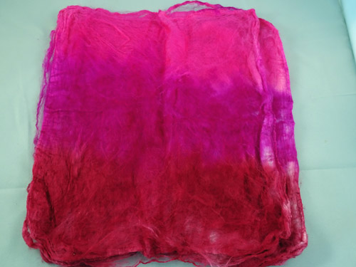 Mulberry Silk Hankies - Lipstick-