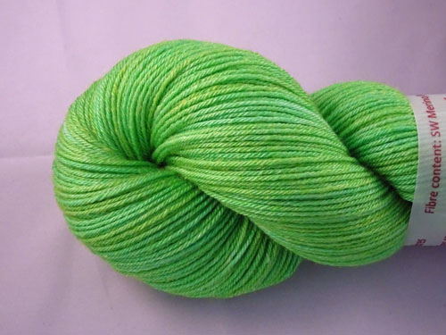 Lush Lime Superwash Merino/Bamboo/Silk Sock Yarn-