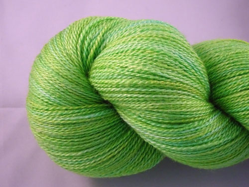 Lush Lime Merino/Silk Laceweight Yarn-