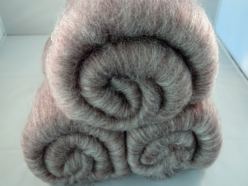 Pale Brown Superwash Wool and Bamboo Batts-