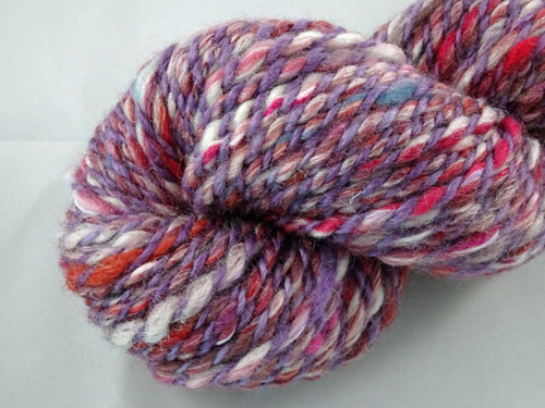 Purple Confetti Handspun Yarn-
