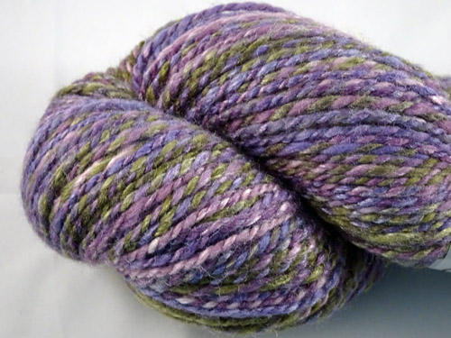 Purples and Green Handspun Yarn-
