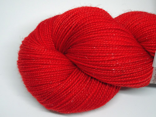 Racy Red SW Merino/Nylon/Stellina Sock Yarn-