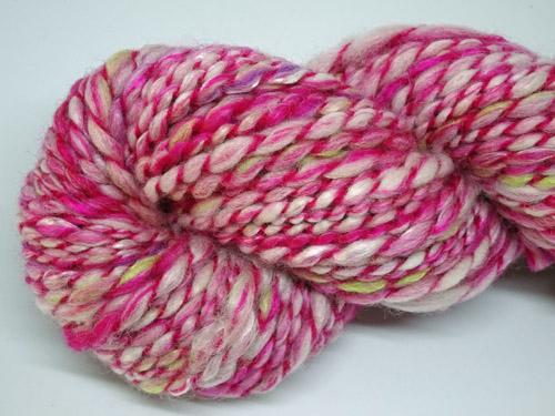 Raspberry Ripple Handspun Yarn-