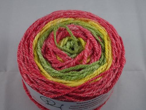 Red Green Yellow Handspun Yarn-