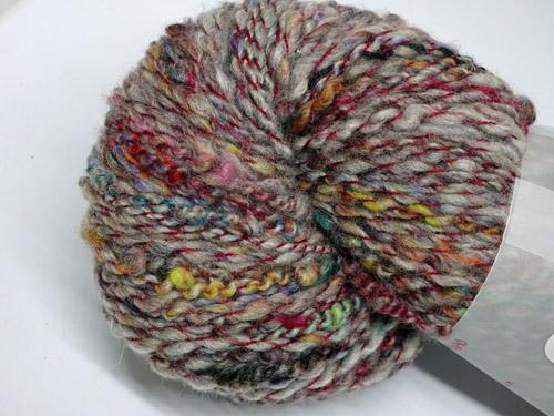 Red Tweed Handspun Yarn-