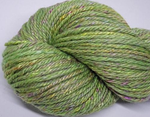 Rose Green Handspun Yarn-