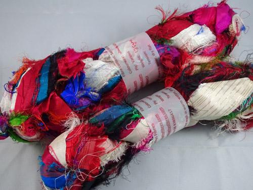 White Flash Sari Silk Ribbon-