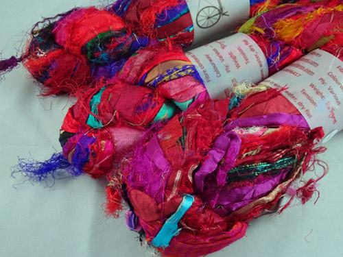 Red Sari Silk Ribbon-