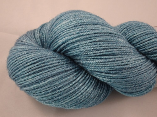 Satin Teal Superwash Merino/Bamboo/Silk Sock Yarn-