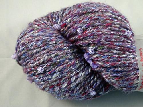 Seashell Purple Handspun Yarn-