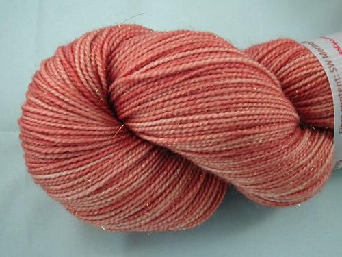 Soft Sparkling Ochre SW Merino/Nylon/Stellina Sock Yarn-