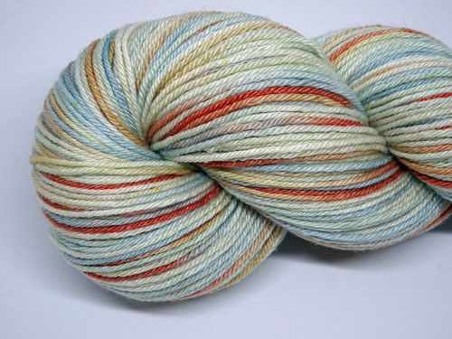 Sugared Almonds Superwash Merino/Bamboo/Silk Sock Yarn-