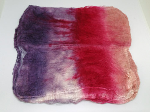 Mulberry Silk Hankies - Summer Fruit-