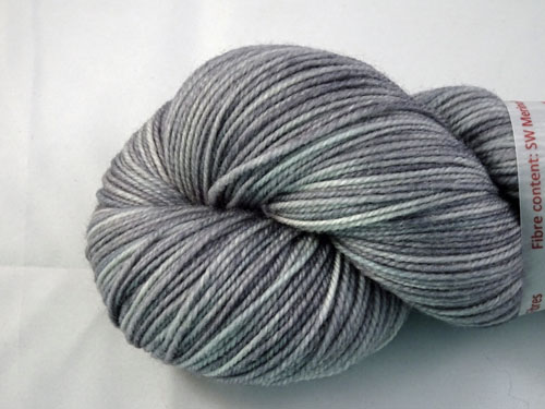 Varigated Grey SW Merino/Nylon Sock Yarn-
