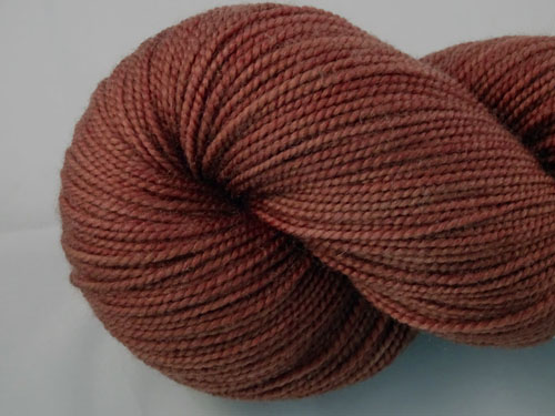 Warm Brown SW Merino Sock Yarn-